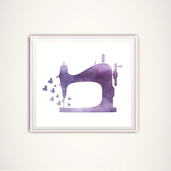 Sewing machine print craft room art sewing machine art for Arts and crafts sewing machine