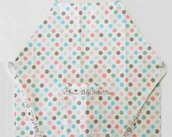 kids pastel dots apron
