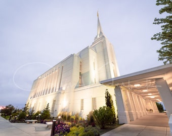 Rexburg ID Temple Print - Rexburg Idaho Temple Print - LDS Temple Print - LDS Temple Photography - Temple Art - Mormon Temple