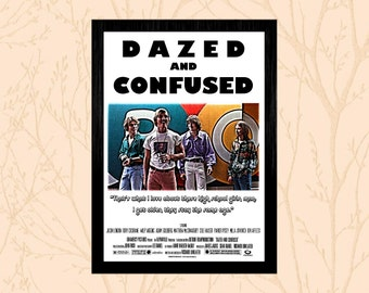 Dazed and Confused Poster Print - Various Sizes - Matthew McConaughey - Richard Linklater - Cult Film