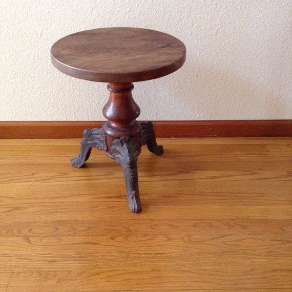 Vintage Piano Stool Castiron And Wood Piano Stool Antique