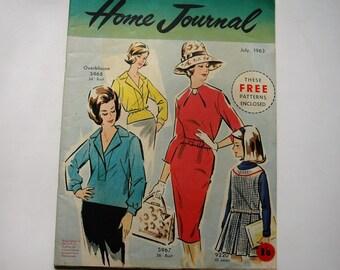 Australian Home Journal Magazine with free patterns - July 1963