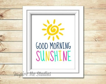 Good Morning Sunshine Printable Art (8x10) - Printable Art / Nursery Decor / Home Decor / Bedroom Art / Good Morning / Sunshine