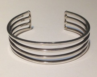 2 1/8 inch sterling silver cuff bracelet