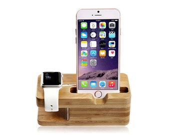 Bamboo Apple Watch & iPhone Charging Station (WB278)