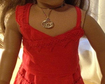 Doll clothing  for 18inch doll a 2 piece skirt and top