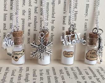 Snow Necklace / Pendant / Bookmark / Earrings / Decoration / Keyring