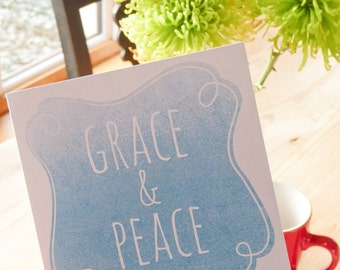Grace and Peace - Bible verse greeting card
