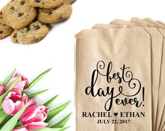 Best Day Ever Stamp | Candy Bar Bag Stamp | Wedding Candy Bags | Wedding Favor Bag Stamp | Custom Wedding Stamper | Best Day Ever Tag Stamp
