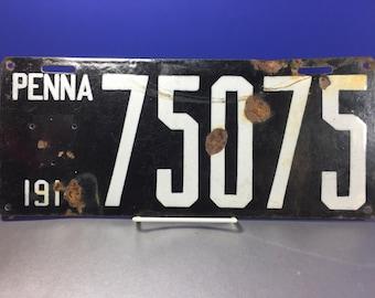 Pennsylvania License Plate 1914