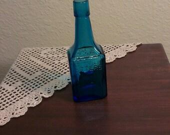 Vintage Wheaton NJ Cobalt Bitters Bottle (1970s)