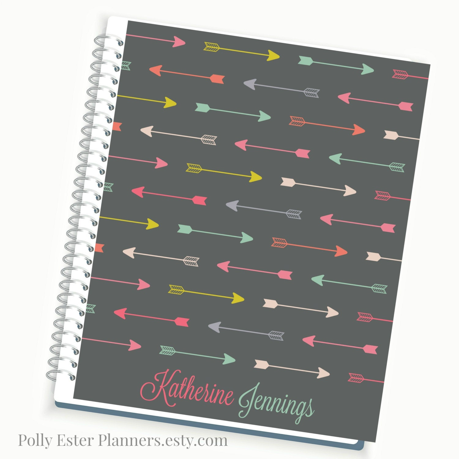 Daily planner 2018 personalized planner multi color arrow for Custom photo planner