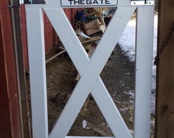 "Wooden ""X"" Gate"