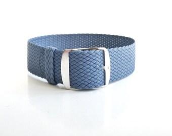 Light Blue Perlon Strap, Pastel blue, sky blue