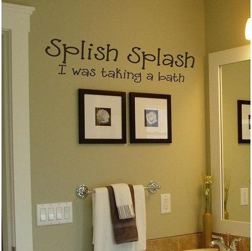 splish splash i was taking a bath bathroom vinyl wall. Black Bedroom Furniture Sets. Home Design Ideas