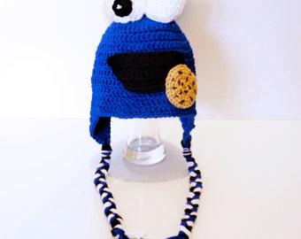 Crochet Cookie Monster Inspired Hat