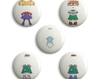 Rugrats Pins Collection - Tommy, Chuckie, Phil, Lil, Angelica, Nickelodeon, 90s, 90s Baby, 90s kid, 90s Cartoon, Splat, Nostalgia, Pin