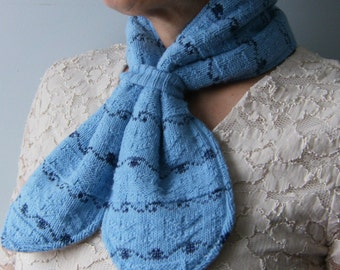 Women's Blue Scarf, Upcycled Sweater Scarf, Neckwarmer, Women's Scarves, Blue Neckwarmer