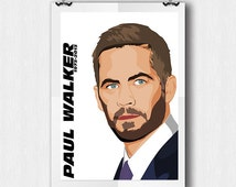 Paul Walker - Fast and Furious - A4 Poster