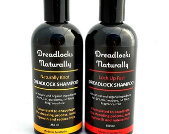 DREADLOCK SHAMPOO Combo Pack by Dreadlocks Naturally - organic shampoo, residue free, fragrance free