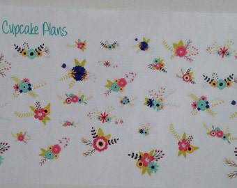 Colorful Flower Bouquets Planner Stickers