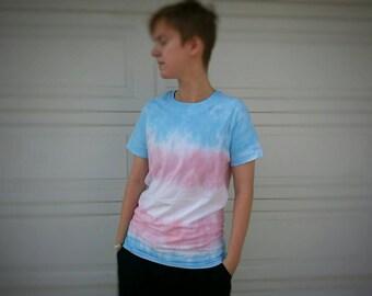 Trans Pride Flag Unisex Tie Dye T Shirt