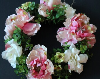 Peony Floral Wreath, Floral Crown, Headress