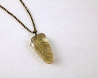 Pressed Plant Necklace