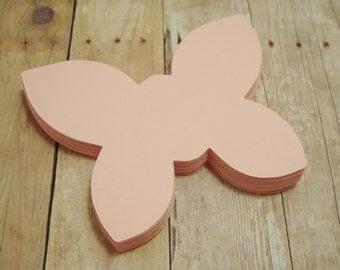 Paper Butterfly Cutouts-Cardstock Butterfly- Light Pink Butterflies-Baby Shower Decor-Scrapbook Cutouts-Paper Butterfly Crafts-Kids Crafts