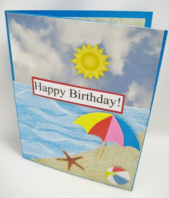 Beach Theme Birthday Card-Ocean Birthday By