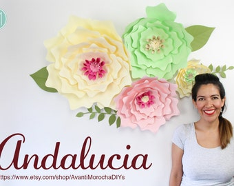 Giant Paper Flower Backdrop - Andalucia (Patterns and Tutorials)
