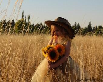 Sunflower Tutu Dress, Sunflower Dress, Sunflower Wedding, Sunflower Flower Girl Dress, Sunflower Tutu, Rustic Wedding, Flower Girl Dress