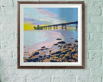 Clevedon Pier screen print