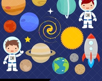 Space Clipart / Planets Clipart / Astronaut Clipart / Clip Art