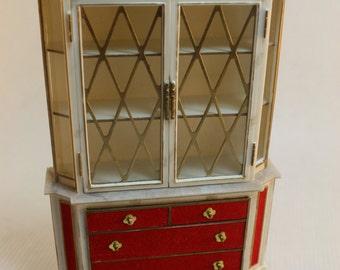 Dollhouse Miniature Petite Princess Treasure Trove Cabinet (1/16 Scale)