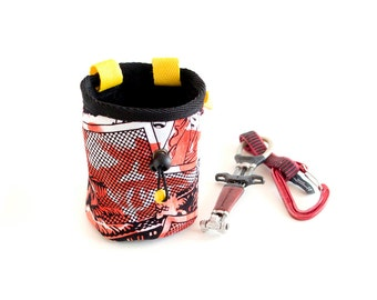 Cool Chalk Bag. Climbing Bag Chalk. Handmade Chalk Bag for Rock Climbing, M Size