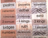 "STANDARD Neutral ""Burlap & Lace"" Multi-toned Books of Bible Tabs by Victoria Anderson"