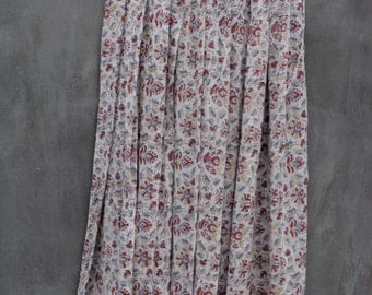 vintage india cotton gauze long skirt