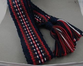 Handwoven Inkle Loom Sash - Mountain Man - Viking - Made to Order