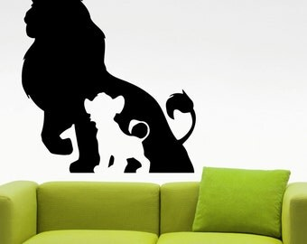 The Lion King Wall Decal Cartoon Vinyl Sticker Kids Room Decor Home Interior Wall Vinyl Design 4eyhn