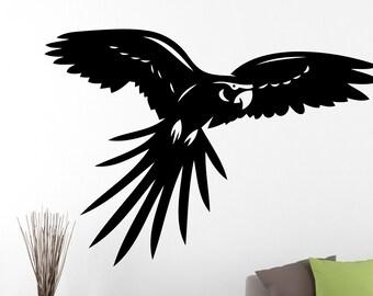 Parrot Wall Sticker Bird Decal Animal Decor Home Living Room Bedroom Vinyl Wall Art Removable Waterproof Sticker 5epai