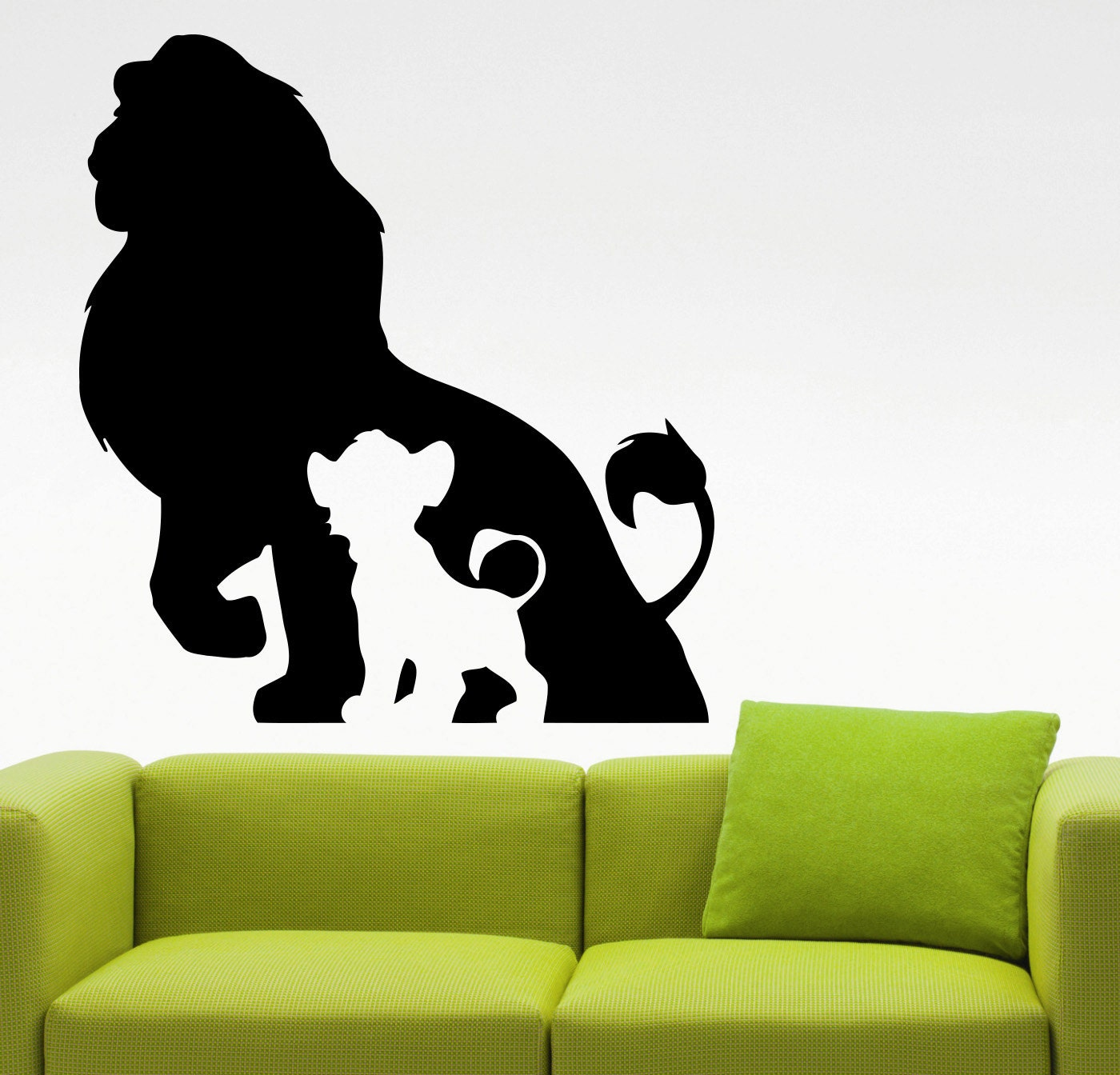 the lion king wall decal cartoon vinyl sticker kids room decor. Black Bedroom Furniture Sets. Home Design Ideas