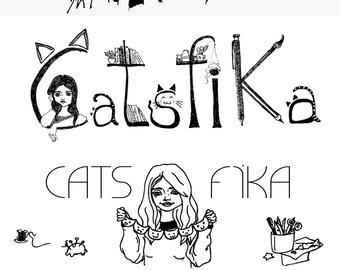 Custom Blog Header, Hand Drawn Blog Banner