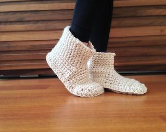 Women Slippers Beige Crochet Slippers Womens Slipper Boots House Shoes Slippers Socks Womens Crochet Booties Winter Fashion Indoor Slippers