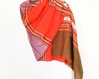 Aztec textile scarf - Aztec striped scarf - Tribal shawl - Tribal scarf - Boho style scarf - Abstract Southwestern print scarf - Fall scarf