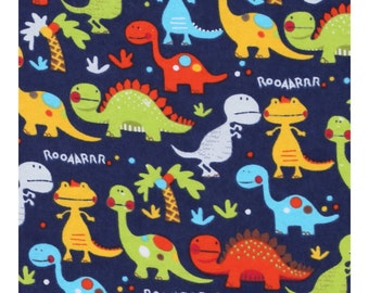 Flannel dinosaur crib sheet