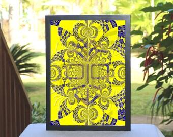 "First Edition, Giclée print of original composition ""Euphoric Recall"" by GAH! FreeToBeYou, conceptual art, contemporary art, modern art"