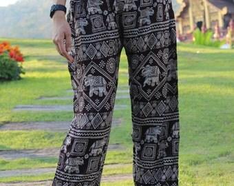 Harem pants elepant pants boho pants cozy pants Black