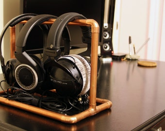 Copper Pipe Headphones Stand