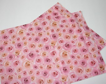 20 NEW 14x17 Designer Poly Mailers Roses Pink Peach Flowers Self Sealing Envelopes Shipping Bags